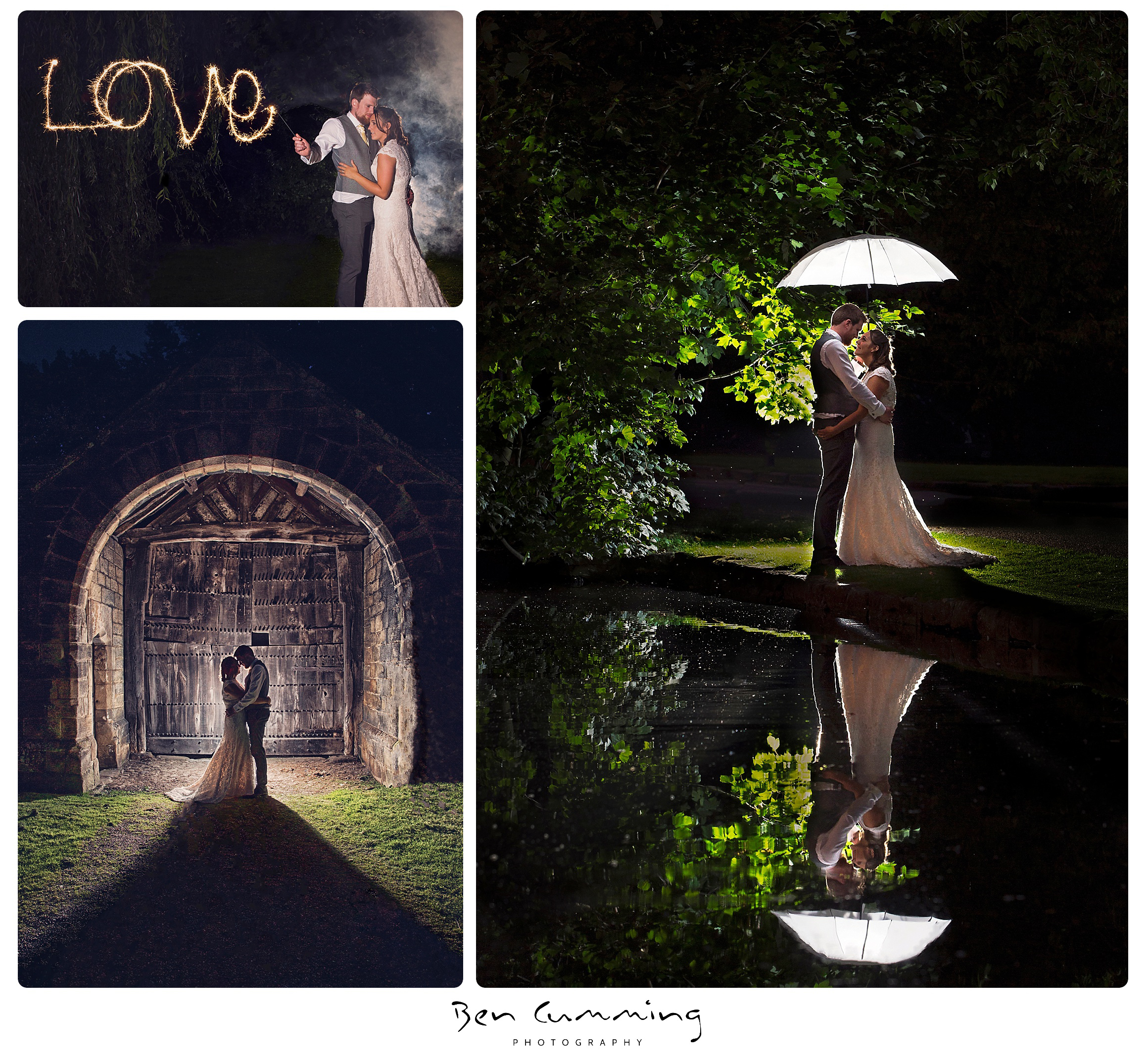 Evening pictures of Bride and Groom