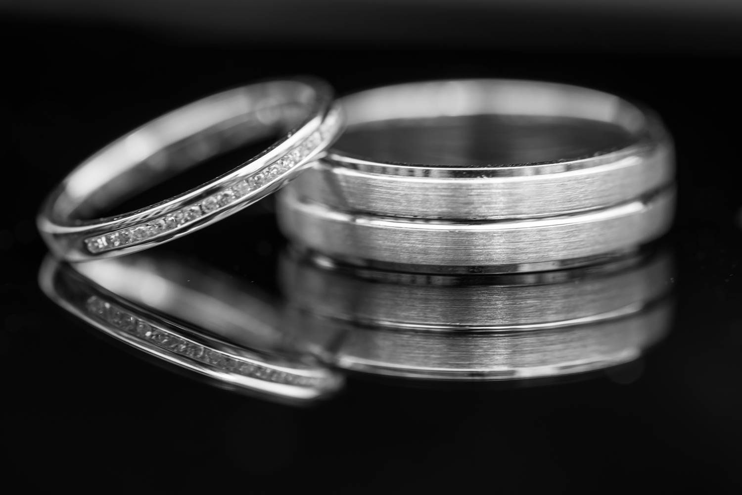 Wedding rings from a Holmfield Arms Wedding