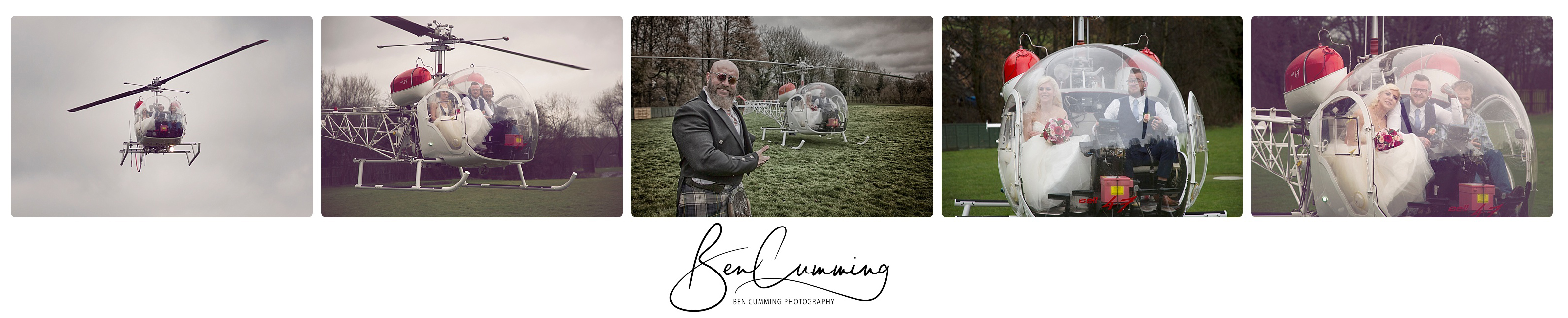 Wedding Helicopter! Ben Cumming Photography
