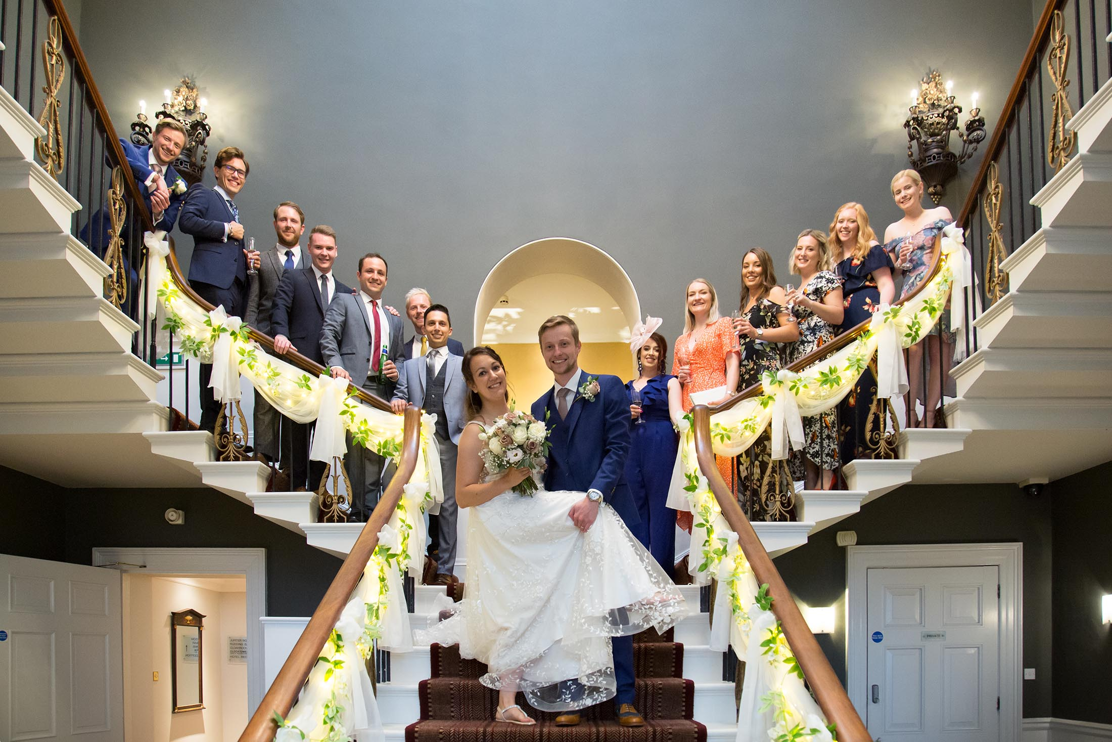 A Fun Bride and Groom Picture at Rudding Park