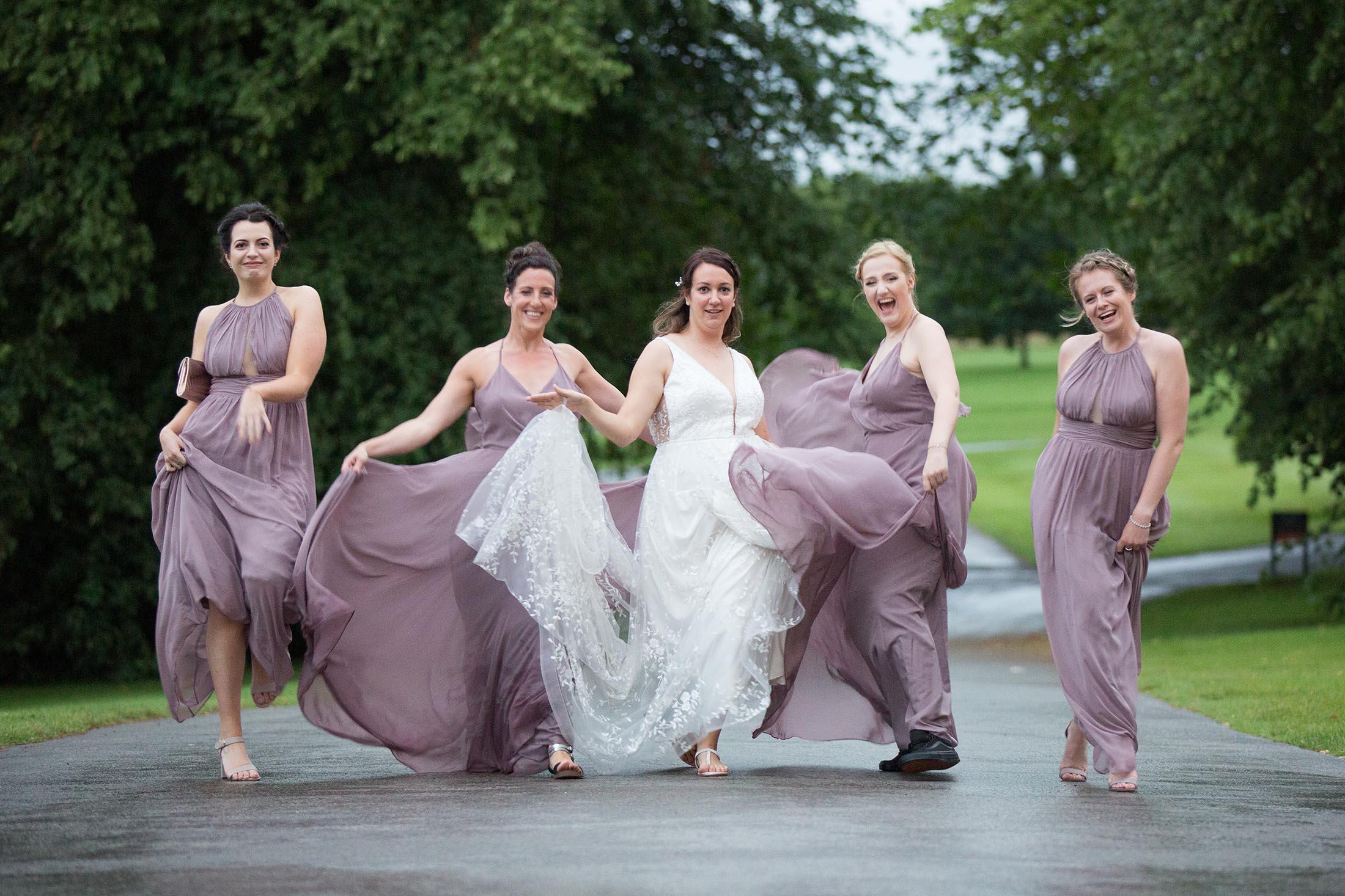 The Bridal Party have fun at Rudding Park
