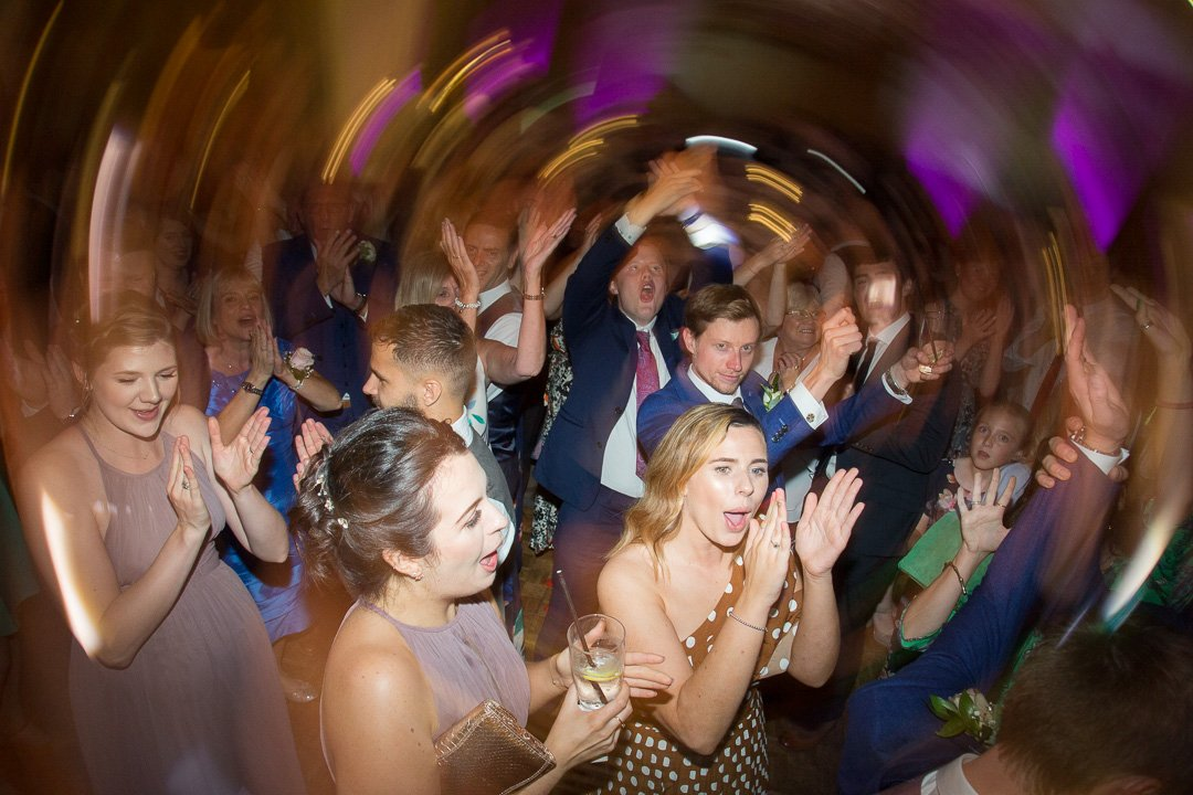 Party time on the dance floor at Rudding Park