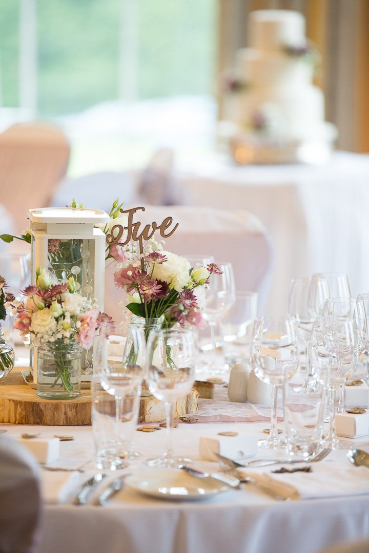 Table set for the wedding breakfast at Rudding Park