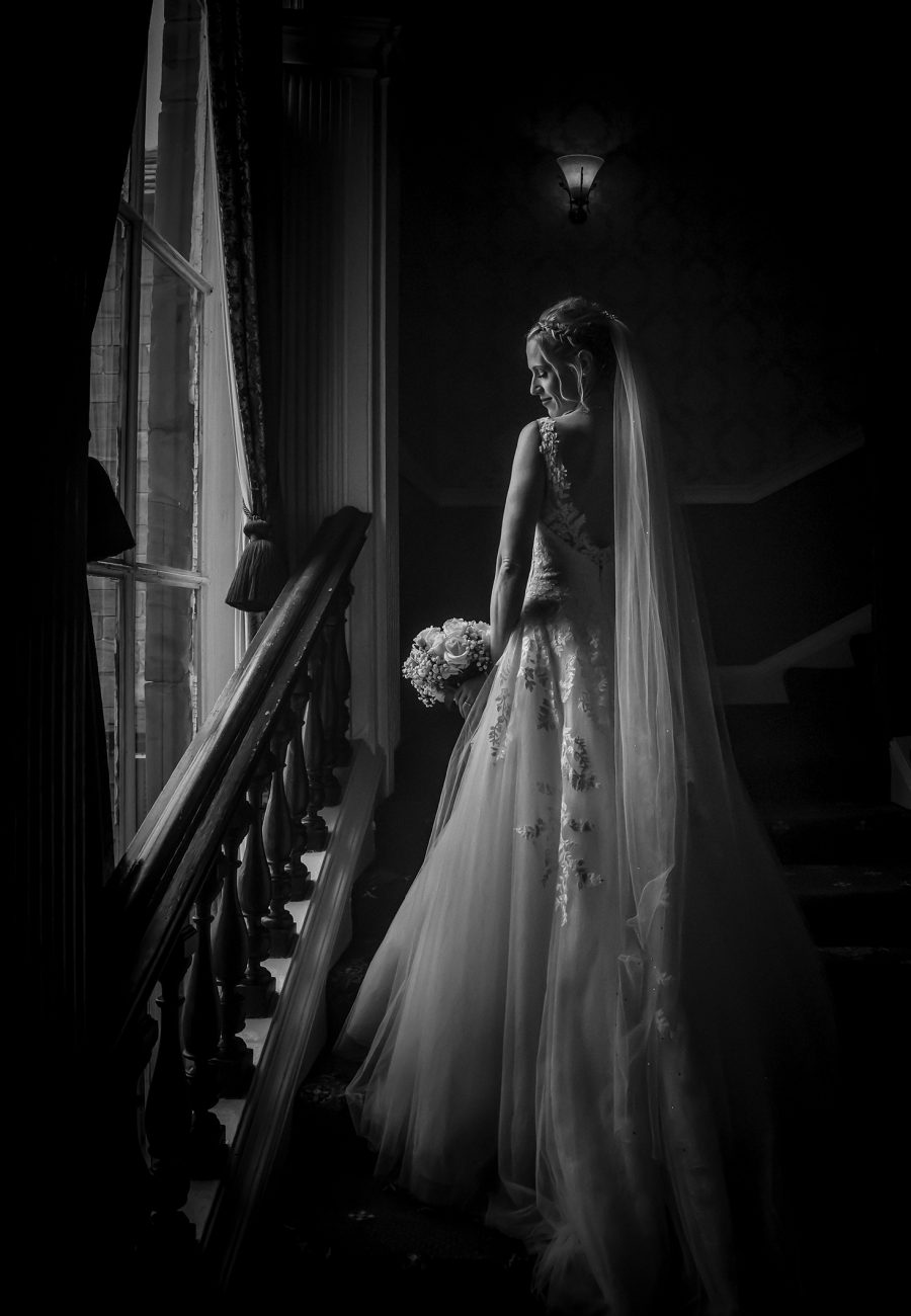 Bride on the Staircase at Waterton