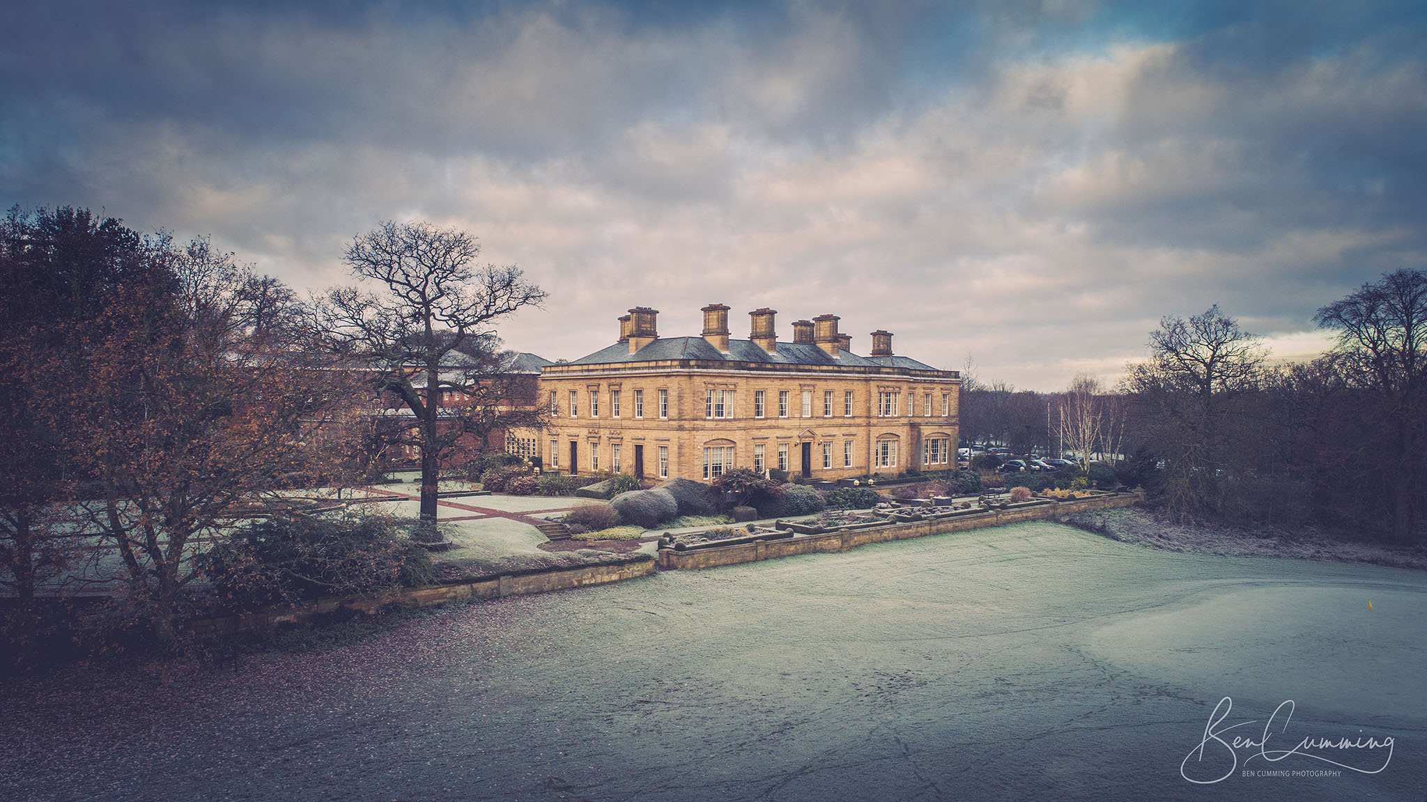 Oulton Hall Drone Shot