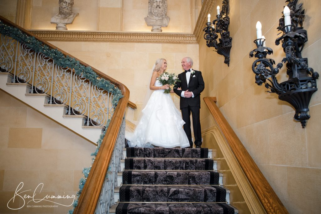 The Bride and the Father of the bride at Oulton Hall
