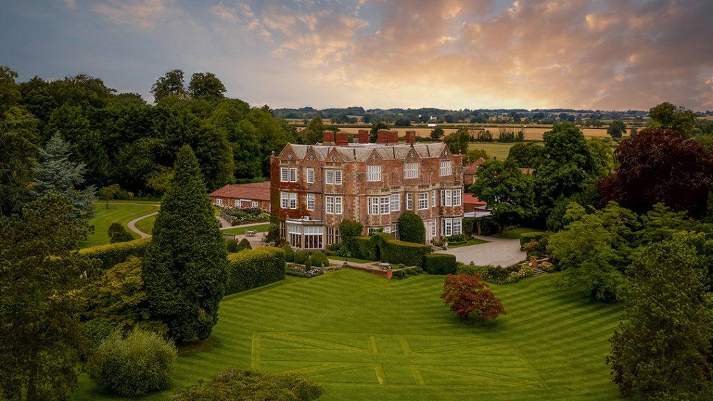 Drone Shot of Goldsborough Hall